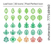leaf line icon editable stroke... | Shutterstock .eps vector #777168460