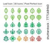 leaf line icon editable stroke... | Shutterstock .eps vector #777168460