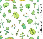seamless pattern of ecology and ... | Shutterstock .eps vector #777168574
