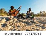 two cuban friends having fun in ... | Shutterstock . vector #777175768