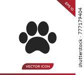 paw print icon. animal symbol ... | Shutterstock .eps vector #777179404