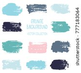 grunge blue brush stroke... | Shutterstock .eps vector #777183064