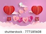 illustration symbol of love... | Shutterstock .eps vector #777185608