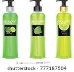 lemon gel bottle.illustration...   Shutterstock .eps vector #777187504