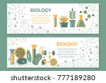 a set of scientific biological... | Shutterstock .eps vector #777189280
