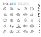 collection of cryptocurrency...   Shutterstock .eps vector #777189343
