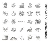 greece line icon set.vector | Shutterstock .eps vector #777190330
