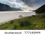 the fog of the saliencia valley ... | Shutterstock . vector #777190999