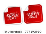 super sale stickers | Shutterstock .eps vector #777193990