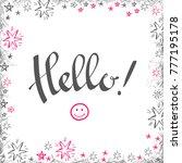 hello hand lettering. modern...   Shutterstock .eps vector #777195178