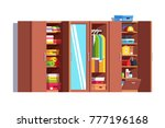 home dressing room wardrobe.... | Shutterstock .eps vector #777196168