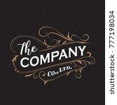 antique label typography frame... | Shutterstock .eps vector #777198034