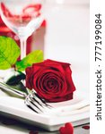 valentine's day or romantic... | Shutterstock . vector #777199084