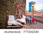 ice skates on the tree... | Shutterstock . vector #777202330