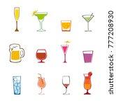 alcohol drinks   cocktails set. ... | Shutterstock .eps vector #777208930
