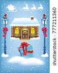 christmas card with santa claus ... | Shutterstock .eps vector #777211360