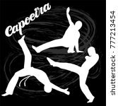 capoeira lettering and... | Shutterstock .eps vector #777213454