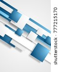 blue and white abstract tech... | Shutterstock .eps vector #777215170