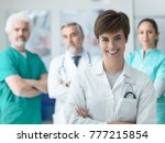 professional medical staff and... | Shutterstock . vector #777215854