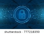cyber security technology... | Shutterstock .eps vector #777218350