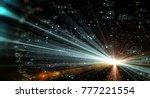 data transmission channel.... | Shutterstock . vector #777221554