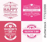 valentines day greeting card...   Shutterstock .eps vector #777223300