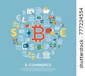 digital vector bitcoin... | Shutterstock .eps vector #777224554