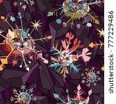 vector seamless pattern....   Shutterstock .eps vector #777229486