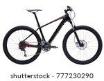 black carbon mountain bike 27.5 ... | Shutterstock . vector #777230290