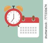 paper spiral wall calendar and... | Shutterstock .eps vector #777233674