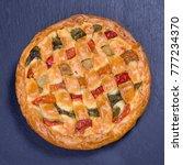 homemade organic chicken pie... | Shutterstock . vector #777234370