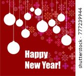 new year vector greeting card ... | Shutterstock .eps vector #777239944