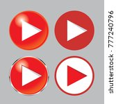 play button icon set   play... | Shutterstock .eps vector #777240796