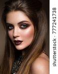 beauty portrait of model with... | Shutterstock . vector #777241738
