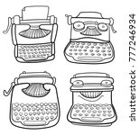 set of hand drawn vintage... | Shutterstock .eps vector #777246934
