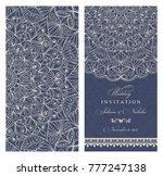 wedding invitation cards ... | Shutterstock .eps vector #777247138