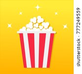 popcorn box. movie cinema icon... | Shutterstock .eps vector #777249559