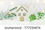 toy decoration house made of... | Shutterstock . vector #777256876