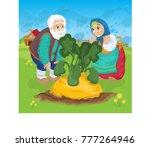 turnip fairy tale russian...   Shutterstock .eps vector #777264946