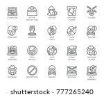 linear icons of virtual... | Shutterstock .eps vector #777265240