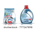 washing powder. liquid and... | Shutterstock .eps vector #777267898