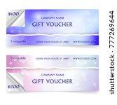 winter snowy gift voucher... | Shutterstock .eps vector #777269644