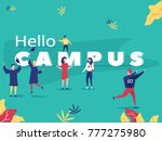 student characters showing... | Shutterstock .eps vector #777275980