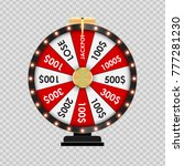 wheel of fortune  lucky icon on ...   Shutterstock .eps vector #777281230