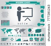 business training icon set and... | Shutterstock .eps vector #777281263