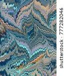 marbled paper design texture | Shutterstock . vector #777282046