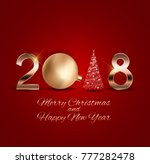 2018 new year background with... | Shutterstock . vector #777282478