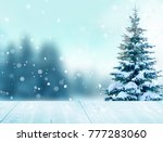 merry christmas and happy new... | Shutterstock . vector #777283060