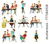 set of office team characters...   Shutterstock . vector #777283528