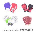 sport protection gloves... | Shutterstock .eps vector #777284719